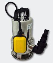 Ipari inox szennyvízszivattyú rozsdamentes búvárszivattyú 550 W 10.500 l/h 7 m zagyszivattyú