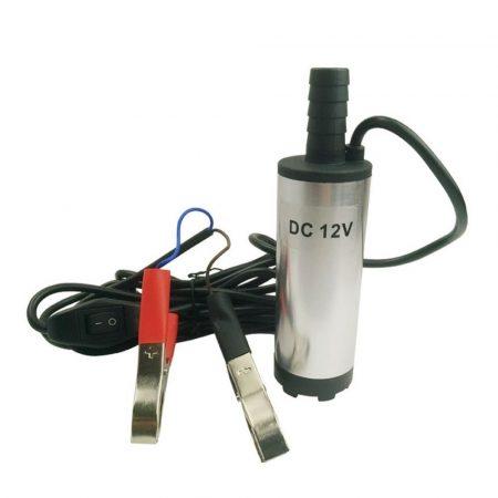 12V 18W 720 l/h Búvárszivattyú 38mm átmérőjű, víz vagy dízel gázolaj üzemanyag szivattyú 60 és 200 l