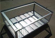 Alacsony gitterbox Rácsos tároló konténer horganyzott EUR raklap méret belül 1200x800x340 mm 1000 kg