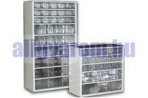 Hobby box. fiókos alkatrész tároló szekrény szortimenter 30x28 cm és 30 kicsi fiók, csavartartó dobo