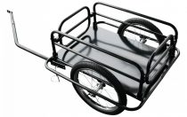 Kerékpár utánfutó rácsos 50 kg teherbírás fúvott gumi