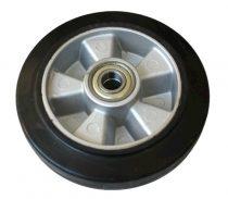 Ø 180 mm kerék raklapmozgató, raklapemelő számára. Alumínium felni gumi futófelület