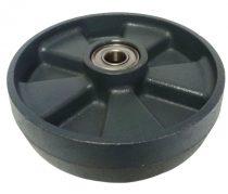 Ø 200 mm öntöttvas acél kerék raklapmozgató, raklapemelő számára. Nagy teherbírású, öntöttvas