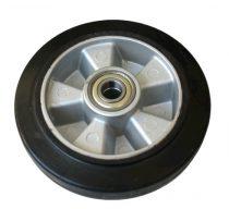 Ø 200 mm kerék raklapmozgató, raklapemelő számára. Alumínium felni gumi futófelület átmérő 200 mm