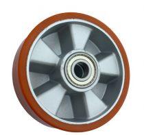 kerék raklapmozgató, raklapemelő uretan Ø 200 mm alumínium ház poliuretán, csapággyal