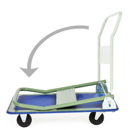 Kézikocsi  ládaszállító  kiskocsi 150 kg teherbírás, összecsukható. Könnyű, csak 8 kg, a gumírozott