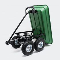 Kézikocsi 350 kg teherbírással. Szállítókocsi billenthető rakfelülettel, nagyméretű kerekekKézikocsi