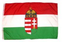 Magyar zászló koronás címerrel 150x250 cm nagyméretű kültéri kivitel Kossuth címerrel
