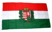 Magyar zászló koronás címerrel 60x90 cm kültéri kivitel