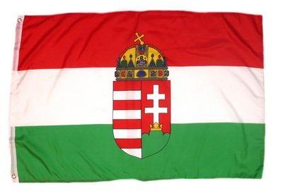 Magyar zászló Kosstuth címerrel 60x90 cm kültéri kivitel