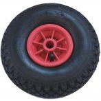 Ø 260 mm molnárkocsi kerék, kézikocsi, kiskocsi pótkerék 3.00-4 átmérő 260 mm fúvott műanyag felni