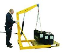 Motorkiemelő mobil daru EUR raklap befér a lábai közé 1000 kg teherbírás más néven zsiráf