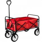 Összecsukható kézikocsi, nagy méretű, önbeálló kerekekkel, kerti kiskocsi. Csak 10 kg.