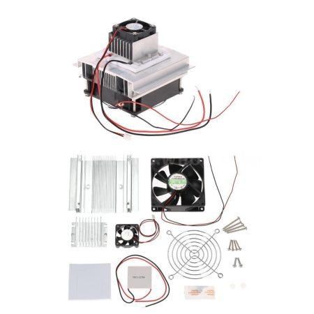 Peltier elemes hűtő készlet 12V 6A   Elem:TEC1-12706 hűtő-fűtó panel aktív ventilátoros hűtéssel