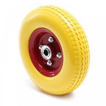 Ø 230 mm defektmentes gumi kerék sárga defekttűrő pótkerék kézikocsi kiskocsi molnárkocsi 2.80/2.50-