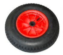 Ø 400 mm gumi kerék pótkerék kézikocsi, kiskocsi 4.00x8 átmérő 400 mm fúvott műanyag felni