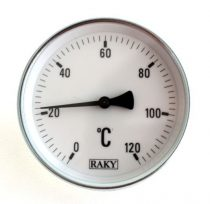 Rézcsőbe hüvellyel becsavarható 1/2 zoll menetes kontakt hőmérő