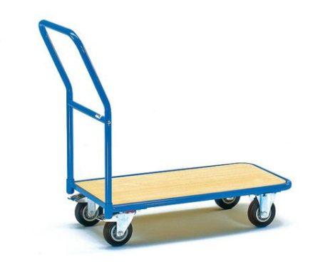 Szállítókocsi, húzható kézikocsi 250 kg teherbírás, fékezhető kerekek 85 x 45 cm-es rakfelület