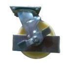 Ø 150 mm támasztó, stabilizáló kerék fékkel targonca raklapemelő kerék poliamid futófelület