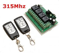 Távirányító készlet 315 MHz  2 db távirányítóval.