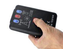Távirányító teszter infrared és rádióhullám 418MHz 433Mhz 434MHz IR infrarvörös rádiós távvezérlő