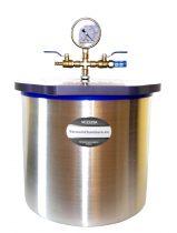 Vákuumtartály, vákuumkamra 12,5 literes alumínium, polikarbonát vagy üveg fedő