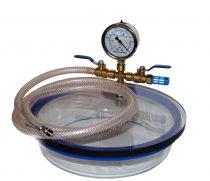 Vákuumtartály, vákuumkamra 2,1 literes boroszilikát üveg, polikarbonát fedél