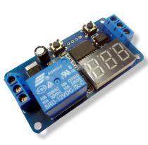 Visszaszámláló elektronika időzítő kapcsoló óra 1-999 sec között 12V