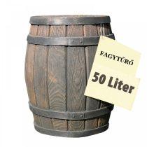 Esővízgyűjtő tartály víztartó 50 literes fahordó mintájú műanyag hordó ciszterna
