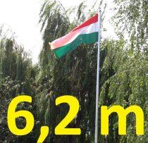 6,2 m zászlórúd zászló tartó, zászlóoszlop alumíniumból