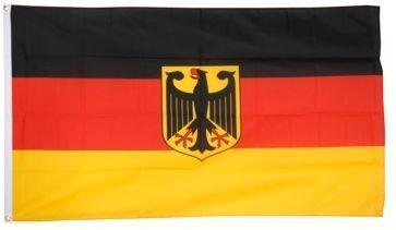 Német zászló címeres, sassal, 90x150 cm kültéri - deutsche Fahne, Flagge Deutschland