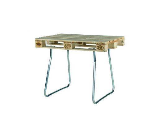Raklapra rögzíthető acél láb EUR raklapból asztal 730 mm