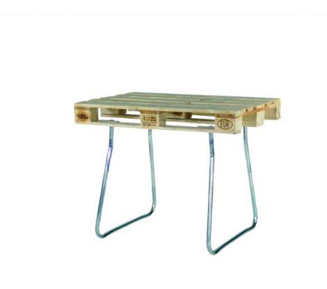 Raklapra rögzíthető acél láb EUR raklapból asztal 850 mm