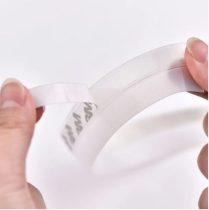Szilikon szalag ajtó tömítés hőszigetelő lapos profil fehér színben 45 mm széles