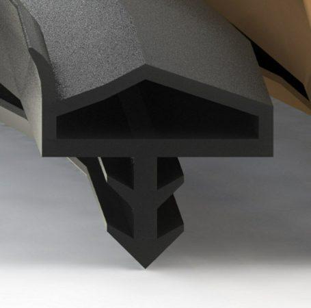 Beltéri ajtó szigetelés nútba helyezhető 5 m barna extra füllel ajtótömítő szigetelő profil