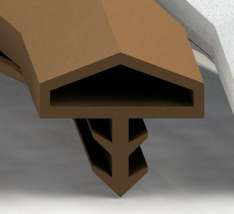 Beltéri ajtó szigetelés nútba helyezhető 5 m fekete ajtótömítő szigetelő profil beépíthető