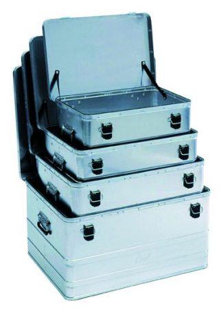 Alumínium doboz, szállítóláda szerszámos láda szett 58-160 literes ládákkal
