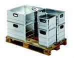 Alumínium doboz, szállítóláda szerszámos láda 40 liter 0,8 mm alumíniumvastagság nyitott láda