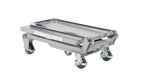 Alumínium összecsukható emelőasztal könnyű ollósemelő 100 kg teherbírás 265-755 mm
