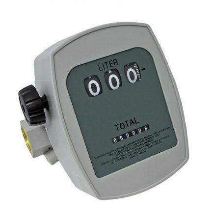 Gázolaj üzemanyag számláló 3 digites kijelző és összmennyiség számláló dízel üzemanyag átfolyás mérő