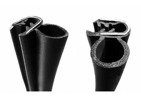 Autó ajtó tömítés ráhúzható gumi profil gépjármű szigetelés 1 méter