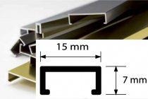 Díszprofil bordűr burkolóprofil alumínium dekorcsík 15x7x2700 mm fém díszcsík padlólap csempe kültér