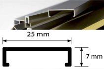 Díszprofil bordűr burkolóprofil alumínium dekorcsík 25x7x2700 mm fém díszcsík padlólap csempe kültér