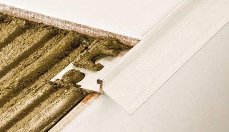 AV Erkély vízvető teraszszegély natúr alumínium 20x2500 mm balkon profil padlólap alá terasz lépcső