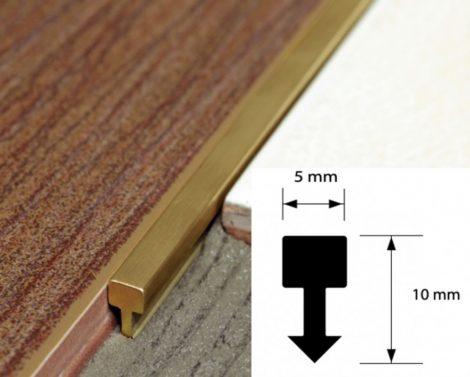 Réz díszcsík bordűr csempe padlólap valódi sárgaréz 5x10x2700 mm díszprofil burkoló profil kültéri b