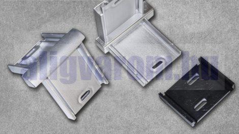 Belső sarok ezüst padlószegély eloxált alumínium csavarozható kivitelhez