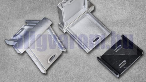 Belső sarok Pezsgő színű padlószegély eloxált alumínium csavarozható kivitelhez