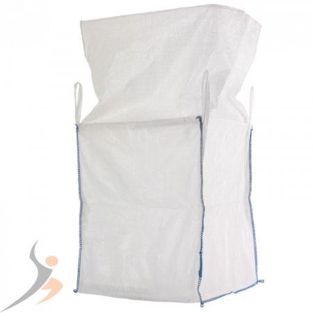 Big Bag zsák 1000 kg 4 füles köténnyel. Felül szoknyás hevederfüles zsák DIN EN ISO 21898 szerint 90