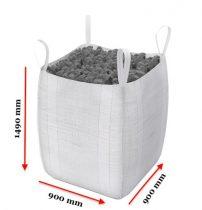 Big Bag zsák 1000 kg 4 füles hevederfüles tároló zsák 90x90x145 cm targoncával, daruval mozgatható