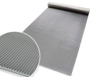SBR Bordás gumiszőnyeg szürke 3 mm vastagság 1000 és 1200 mm széles tekercs finom csíkozás